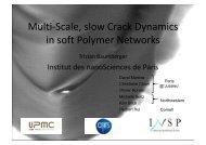 G - Chaire « Sciences des matériaux » Michelin - ESPCI ParisTech