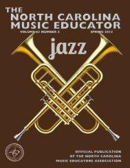 NC Music Educator Spring 2015