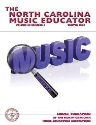 NC Music Educator Winter 2015