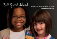 Full Speed Ahead Girl Scouts, Hornets' Nest Council 2009 Annual ...