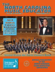 NC Music Educator Conference 2014