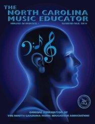 NC Music Educator Summer 2014