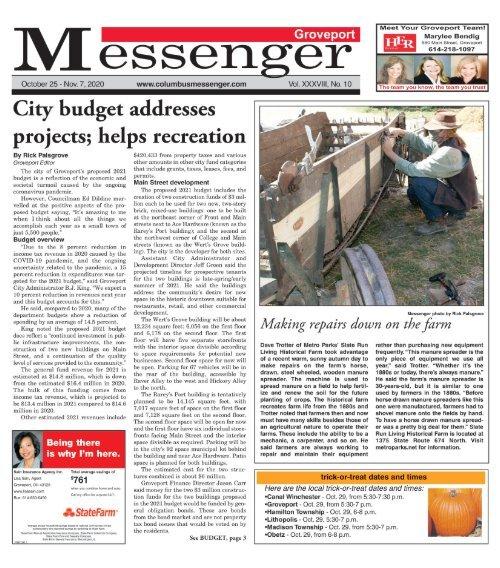 Groveport Messenger - October 25th, 2020