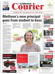 Ashburton Courier: October 29, 2020