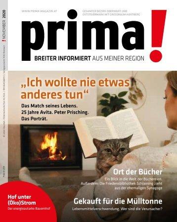 prima! Magazin - Ausgabe November 2020