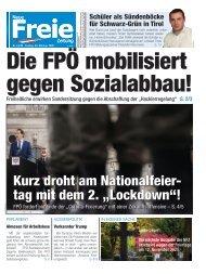 Die FPÖ mobilisiert gegen Sozialabbau