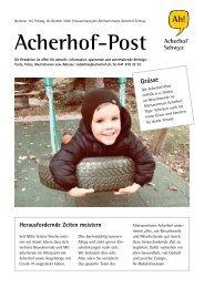 Acherhof-Post Nr. 16   30. Oktober 2020