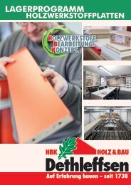Lagerprogramm Holzwerkstoffplatten