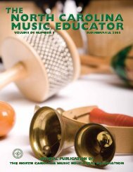 NC Music Educator Summer 2013