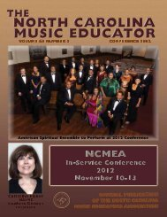 NC Music Educator Conference 2012