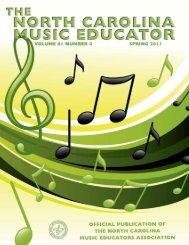 NC Music Educator Spring 2011