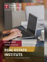 Real Estate Institute at Temple University - Spring 2021 Brochure