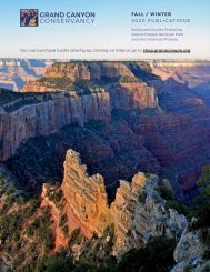 Grand Canyon Conservancy Fall/Winter 2020 Publications
