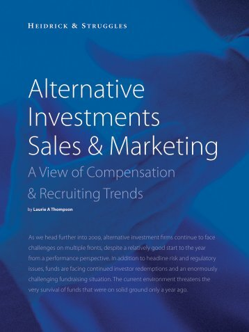 Alternative Investments Sales & Marketing - Heidrick & Struggles