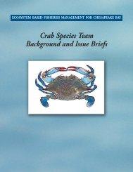 Blue Crab Species Team - Maryland Sea Grant - University of ...