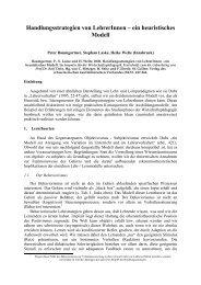 Handlungsstrategien von LehrerInnen - Peter Baumgartner