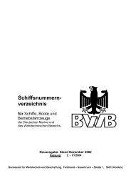 Schiffsnummernverzeichnis für Schiffe, Boote und ... - RK Marine Kiel