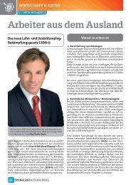 WIrtSCHaFt & reCHt - Hasberger_Seitz & Partner