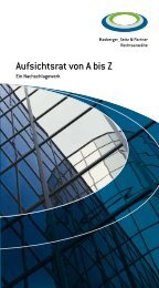 Aufsichtsrat von A bis Z - Hasberger_Seitz & Partner