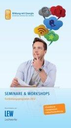 seminare & WOrKsHOPs - LEW Forum Schule