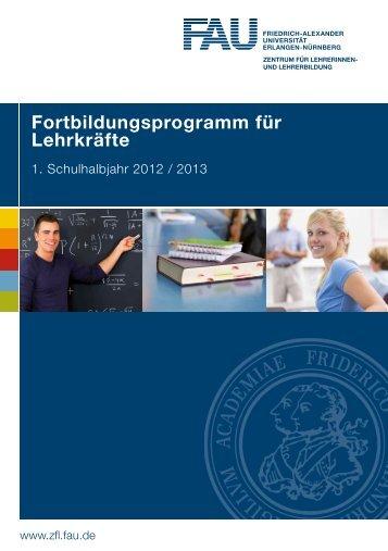 fortbildungsprogramm für Lehrkräfte - Zentrum für Lehrerinnen- und ...