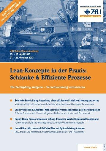Lean-Konzepte in der Praxis: Schlanke & Effiziente Prozesse - ZfU ...