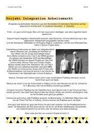 Hauszeitung 2010/2011 - Regens Wagner Holnstein