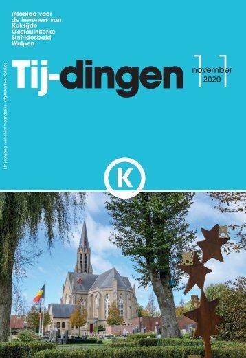 Infoblad Tij-dingen, editie november 2020