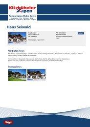 Haus Seiwald - Ferienregion Hohe Salve