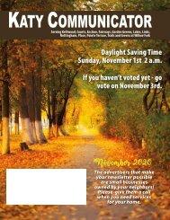 Katy Communicator November 2020