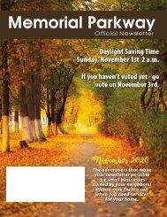 Memorial Parkway November 2020