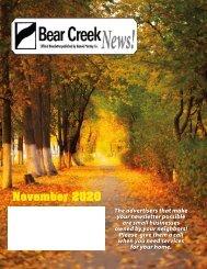 Bear Creek November 2020