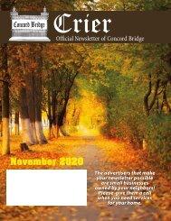 Concord Bridge November 2020