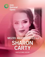 INO Mezzo Masterpieces Sharon Carty Programme Book