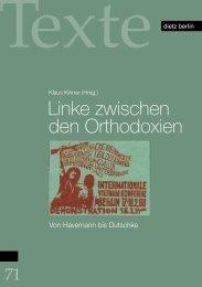 Linke zwischen den Orthodoxien - Rosa-Luxemburg-Stiftung