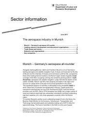 Sector information - Referat für Arbeit und Wirtschaft