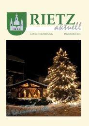 DEZEMBER 2011 GEMEINDEZEITUNG - Rietz