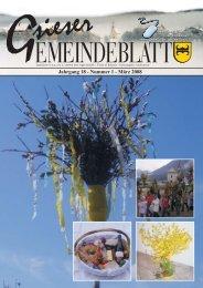 Jahrgang 18 - Nummer 1 - März 2008