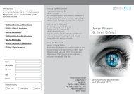 Flyer Schulung 3. Quartal 2011