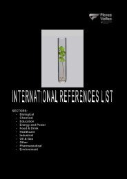 International references list by sectors 277 Kb - Flores Valles