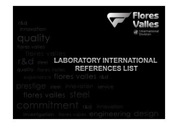 Lab International Reference List (per country) - Flores Valles