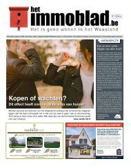 Het Immoblad dd 27/10 - 24/11