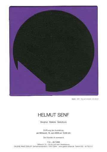 HELMUT SENF - Galerie Zeisler