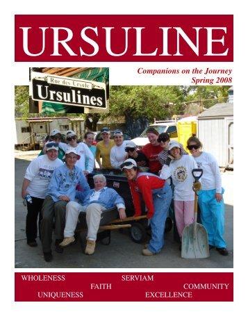 Spring 2008 Magazine.pub - Ursuline Academy