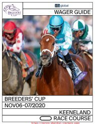 Breeders Cup 2020 - Wagering Guide - XBGlobal