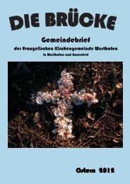 Gemeindebrief Ostern 2012 - evangelische kirchengemeinde ...