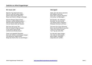Diverse Gedichte - Alfred-Huggenberger-Gesellschaft