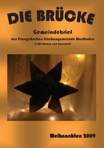Gemeindefest 2009 - evangelische kirchengemeinde westhofen