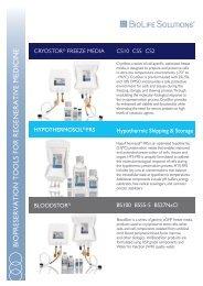 Biopreservation BioLife Solutions