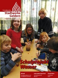 Schulprojekt Wasser - Stadtwerke Geldern